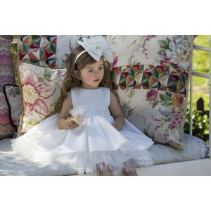 Ολοκληρωμένο πακέτο βάπτισηs με αυτό το Φόρεμα (Dolce Bambini #Κ490-1-180#) Με βαλίτσα rain η παγκάκι θρανίο Δωρεάν μεταφορικά