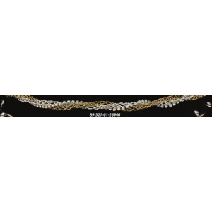 Στέφανα ασημένια χρυσό (89-321)