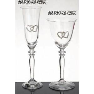 Ποτήρι κρασιού-σαμπάνιαςμε stras-κρύσταλλο 86-703(3780)
