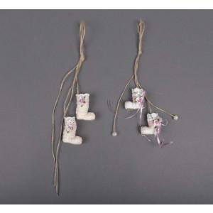Μπομπονιέρα χειροποίητη μποτάκια (Κωδ.50.02.305-1.20)
