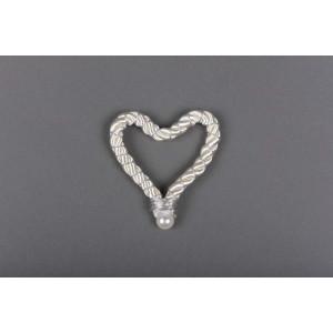 Μπομπονιέρα χειροποίητη καρδια (Κωδ.50.02.318-0.60) 8cm