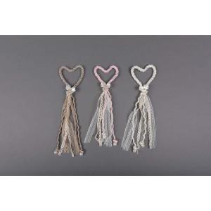 Μπομπονιέρα χειροποίητη καρδια (Κωδ.50.02.319-35-1.20) 8cm