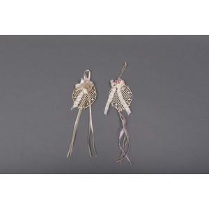 Μπομπονιέρα χειροποίητη λουλουδάκια (Κωδ.50.02.329-1.40) 30cm