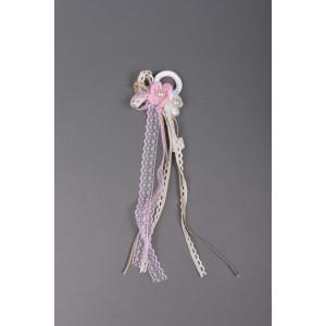 Μπομπονιέρα χειροποίητη στεφανάκι λουλουδάκια (Κωδ.50.02.357-1.20) 35cm