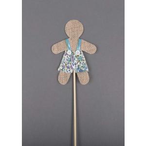 Μπομπονιέρα stick φορεματάκι (Κωδ.50.10.684-0.69)