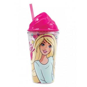 Πλαστικό Παγούρι - Ποτήρι Barbie Disney (Με καλαμάκι) (Κωδ.151.539.058)