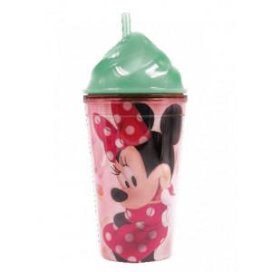 Πλαστικό Παγούρι - Ποτήρι Minnie Disney (Με καλαμάκι) (Κωδ.151.539.059)