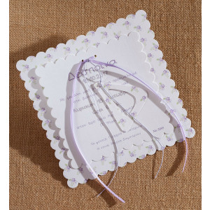 Προσκλητήριο Floral με Μονόγραμμα (Biniatian Κωδ.5095-1102)