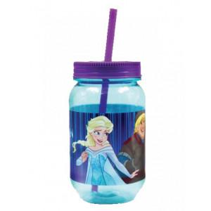 Βαζάκι Πλαστικό 550mL Frozen Disney (Με Καλαμάκι) (Κωδ.151.539.060)