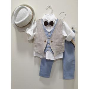 Ολοκληρωμένο πακέτο βάπτισηs με αυτό το κουστούμι (La Christine #19Α164-135#) Με βαλίτσα rain η παγκάκι θρανίο Δωρεάν μεταφορικά