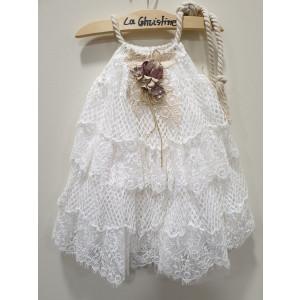 Ολοκληρωμένο πακέτο βάπτισηs με αυτό το φόρεμα (La christine #Κ-19-161-130#) Με βαλίτσα rain η παγκάκι θρανίο Δωρεάν μεταφορικά