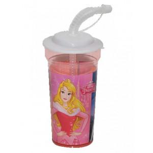 Πλαστικό Ποτήρι Princess Disney (Με καλαμάκι) (Κωδ.151.539.002)