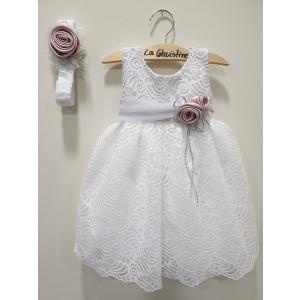Ολοκληρωμένο πακέτο βάπτισηs με αυτό το φόρεμα (La christine #Κ-19-191-130#) Με βαλίτσα rain η παγκάκι θρανίο Δωρεάν μεταφορικά