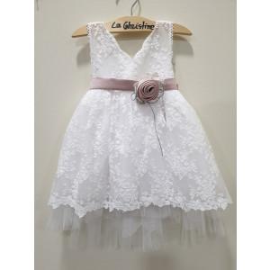 Ολοκληρωμένο πακέτο βάπτισηs με αυτό το φόρεμα (La christine #Κ-19-195-130#) Με βαλίτσα rain η παγκάκι θρανίο Δωρεάν μεταφορικά