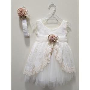 Ολοκληρωμένο πακέτο βάπτισηs με αυτό το φόρεμα (La christine #Κ-19-179-130#) Με βαλίτσα rain η παγκάκι θρανίο Δωρεάν μεταφορικά