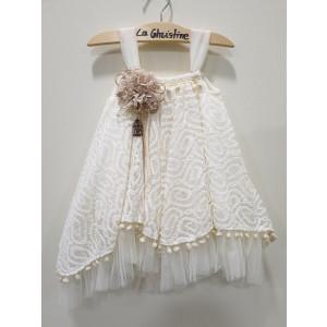 Ολοκληρωμένο πακέτο βάπτισηs με αυτό το φόρεμα (La christine #Κ-19-101-120#) Με βαλίτσα rain η παγκάκι θρανίο Δωρεάν μεταφορικά