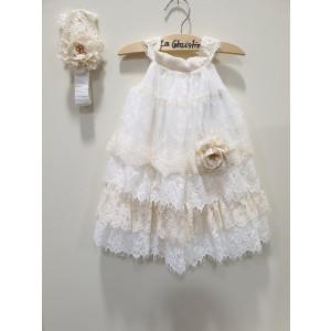 Ολοκληρωμένο πακέτο βάπτισηs με αυτό το φόρεμα (La christine #)Κ-19-149-135#) Με βαλίτσα rain η παγκάκι θρανίο Δωρεάν μεταφορικά