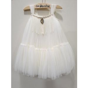 Ολοκληρωμένο πακέτο βάπτισηs με αυτό το φόρεμα (La christine #Κ-19-115-125#) Με βαλίτσα rain η παγκάκι θρανίο Δωρεάν μεταφορικά
