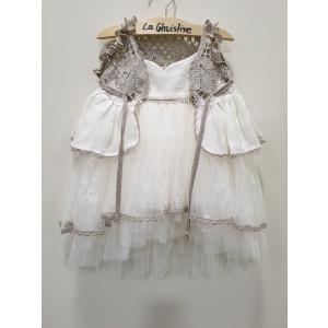 Ολοκληρωμένο πακέτο βάπτισηs με αυτό το φόρεμα (La christine #)Κ-19-135-155#) Με βαλίτσα rain η παγκάκι θρανίο Δωρεάν μεταφορικά