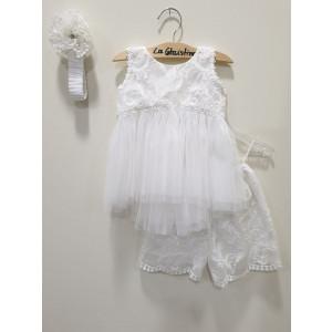 Ολοκληρωμένο πακέτο βάπτισηs με αυτό το φόρεμα (La christine #)Κ-19-105-135#) Με βαλίτσα rain η παγκάκι θρανίο Δωρεάν μεταφορικά