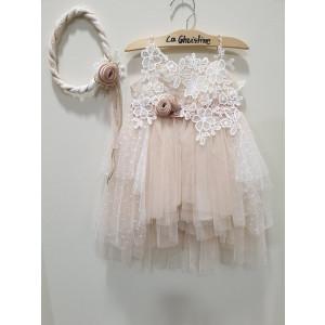 Ολοκληρωμένο πακέτο βάπτισηs με αυτό το φόρεμα (La christine #)Κ-19-153-127#) Με βαλίτσα rain η παγκάκι θρανίο Δωρεάν μεταφορικά