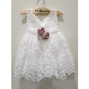 Ολοκληρωμένο πακέτο βάπτισηs με αυτό το φόρεμα (La christine #)Κ-19-113-145#) Με βαλίτσα rain η παγκάκι θρανίο Δωρεάν μεταφορικά