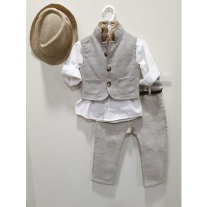 Ολοκληρωμένο πακέτο βάπτισηs με αυτό το κουστούμι (La Christine #19Α116-127#) Με βαλίτσα rain η παγκάκι θρανίο Δωρεάν μεταφορικά
