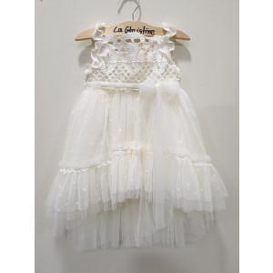 Ολοκληρωμένο πακέτο βάπτισηs με αυτό το φόρεμα (La christine #Κ-19-109-125#) Με βαλίτσα rain η παγκάκι θρανίο Δωρεάν μεταφορικά
