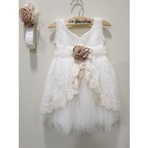 Ολοκληρωμένο πακέτο βάπτισηs με αυτό το φόρεμα (La christine #Κ-19-179-135#) Με βαλίτσα rain η παγκάκι θρανίο Δωρεάν μεταφορικά