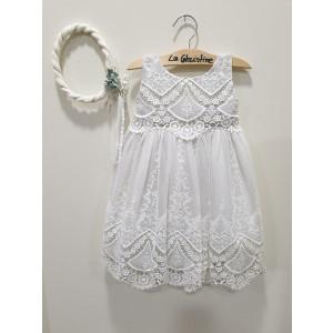 Ολοκληρωμένο πακέτο βάπτισηs με αυτό το φόρεμα (La christine #Κ-19-169-125#) Με βαλίτσα rain η παγκάκι θρανίο Δωρεάν μεταφορικά