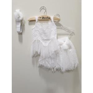 Ολοκληρωμένο πακέτο βάπτισηs με αυτό το φόρεμα (La christine #)Κ-19-137-135#) Με βαλίτσα rain η παγκάκι θρανίο Δωρεάν μεταφορικά