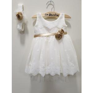 Ολοκληρωμένο πακέτο βάπτισηs με αυτό το φόρεμα (La christine #Κ-19-129-135#) Με βαλίτσα rain η παγκάκι θρανίο Δωρεάν μεταφορικά
