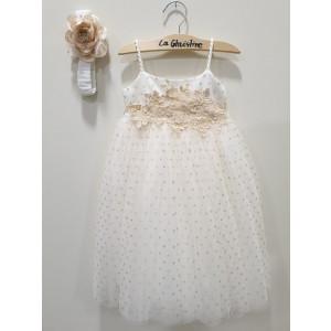Ολοκληρωμένο πακέτο βάπτισηs με αυτό το φόρεμα (La christine #Κ-19-185-120#) Με βαλίτσα rain η παγκάκι θρανίο Δωρεάν μεταφορικά