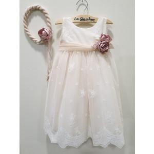 Ολοκληρωμένο πακέτο βάπτισηs με αυτό το φόρεμα (La christine #Κ-19-187-135#) Με βαλίτσα rain η παγκάκι θρανίο Δωρεάν μεταφορικά