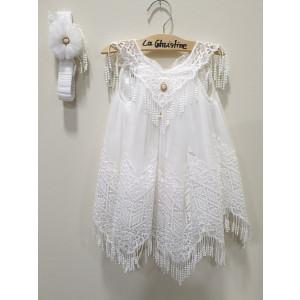 Ολοκληρωμένο πακέτο βάπτισηs με αυτό το φόρεμα (La christine #Κ-19-145-135#) Με βαλίτσα rain η παγκάκι θρανίο Δωρεάν μεταφορικά
