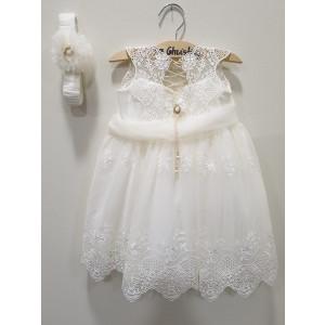 Ολοκληρωμένο πακέτο βάπτισηs με αυτό το φόρεμα (La christine #Κ-19-103-135#) Με βαλίτσα rain η παγκάκι θρανίο Δωρεάν μεταφορικά