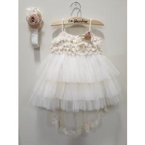 Ολοκληρωμένο πακέτο βάπτισηs με αυτό το φόρεμα (La christine #Κ-19-121-130#) Με βαλίτσα rain η παγκάκι θρανίο Δωρεάν μεταφορικά