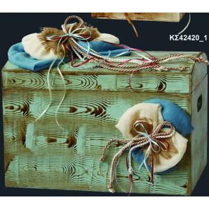 Ξύλινο Μπαούλο Αναπαλαιωμένο (Κωδ:ΚΣ42420_1) (0229)