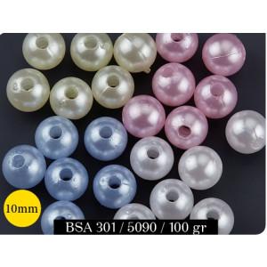 Χάντρες Πέρλα (10mm) (100gr) (Κωδ.BSA301)