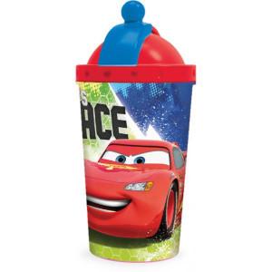 Παγούρι Cars 3 πλαστικό με καλαμάκι 450ml (#760.239.016#)