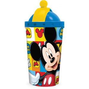 Παγούρι πλαστικό Mickey Mouse με καλαμάκι 450ml (#760.239.018#)
