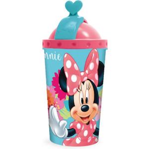 Παγούρι πλαστικό Minnie Mouse με καλαμάκι 450ml (#760.239.019#)