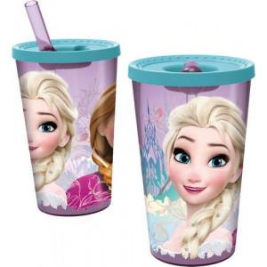 Παγούρι πλαστικό Frozen με καλαμάκι 450ml (#760.239.033#)