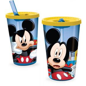Παγούρι πλαστικό Mickey με καλαμάκι 450ml (#760.239.034#)