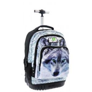 Σχολική τσάντα δημοτικού τρόλεϊ Λύκος (#760.355.006#)