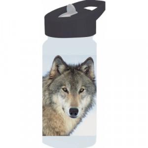 Παγούρι μεταλλικό με καλαμάκι Animal Planet (Ασπρο) (#760.239.020+12#)