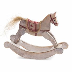 Μπομπονιέρα Ξύλινο αλογάκι (Παρίσης) (Κωδ.57240-2110)
