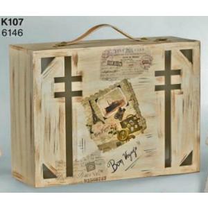 Κουτί ξύλινο βαλίτσα (Κωδ.Κ107-1)