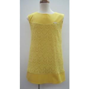 Φόρεμα Αμάνικο Δανδέλα Κίτρινο 291.87.466