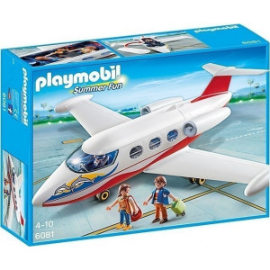 Playmobil Αεροπλάνο με Πιλότο και Τουρίστες 6081 Κωδ. 787.342.226